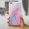 Marbleized Soft Pink and Blue Paradise iPhone 6/6s or 6/6s Plus 2-Piece Hybrid INK-Fuzed Case