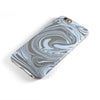 Marbleized Swirling Blue and Gray iPhone 6/6s or 6/6s Plus 2-Piece Hybrid INK-Fuzed Case