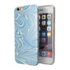 Marbleized Swirling Blues v52 iPhone 6/6s or 6/6s Plus 2-Piece Hybrid INK-Fuzed Case