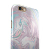 Marbleized Swirling Candy Coat iPhone 6/6s or 6/6s Plus 2-Piece Hybrid INK-Fuzed Case