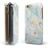 Marbleized Swirling Candy Colors iPhone 6/6s or 6/6s Plus 2-Piece Hybrid INK-Fuzed Case