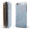 Marbleized Swirling Color Passion iPhone 6/6s or 6/6s Plus 2-Piece Hybrid INK-Fuzed Case