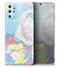 Marbleized Swirling Cotton Candy - Skin-Kit for the Samsung Galaxy S-Series S20, S20 Plus, S20 Ultra , S10 & others (All Galaxy Devices Available)