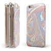 Marbleized Swirling Fun Coral iPhone 6/6s or 6/6s Plus 2-Piece Hybrid INK-Fuzed Case