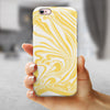 Marbleized Swirling Gold iPhone 6/6s or 6/6s Plus 2-Piece Hybrid INK-Fuzed Case
