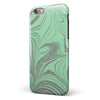 Marbleized Swirling Green and Gray iPhone 6/6s or 6/6s Plus 2-Piece Hybrid INK-Fuzed Case