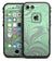 Marbleized Swirling Green and Gray - iPhone 7 LifeProof Fre Case Skin Kit
