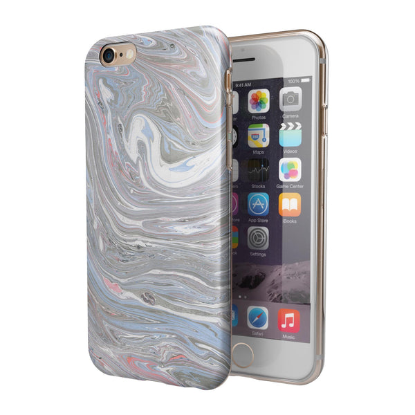 Marbleized Swirling v3 iPhone 6/6s or 6/6s Plus 2-Piece Hybrid INK-Fuzed Case