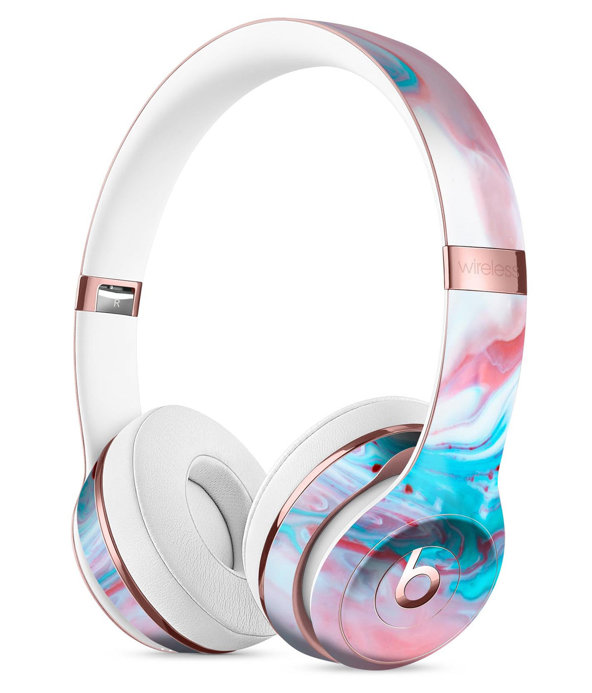 Marbleized Teal and Pink V2 Full-Body Skin Kit for the Beats by Dre So -  DesignSkinz 070db30dac54