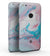 "Marbleized Teal and Pink V2 - Full-Body Skin Kit for the Google 5"" Pixel or 5.5"" Pixel XL"