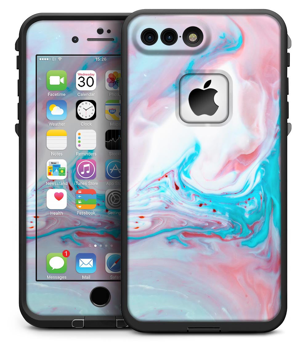 best sneakers be1f6 64972 Marbleized Teal and Pink V2 - iPhone 7 Plus LifeProof Fre Case Skin Kit