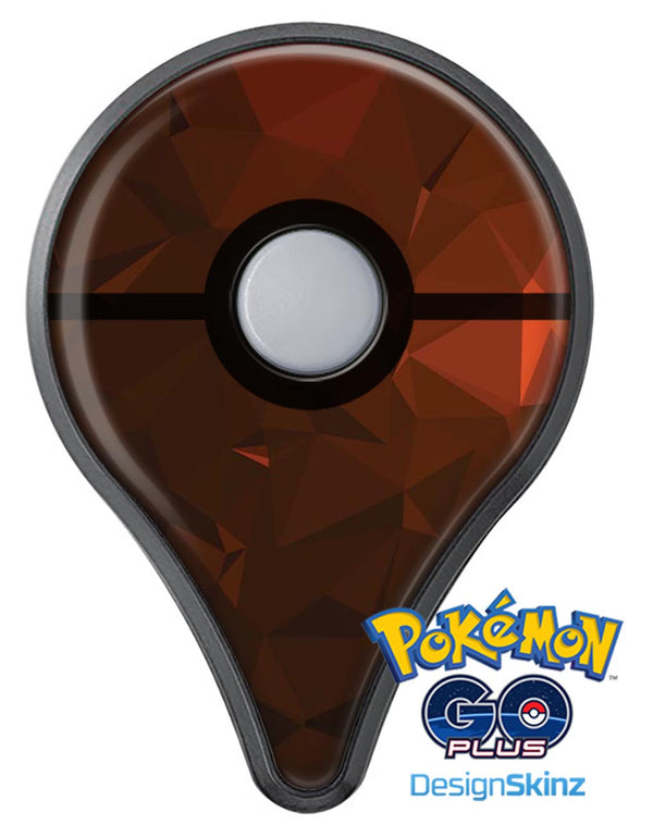 Maroon Abstract Gemotric Shapes Pokémon GO Plus Vinyl Protective Decal Skin Kit