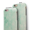 Micro Faded Green Damask Pattern iPhone 6/6s or 6/6s Plus 2-Piece Hybrid INK-Fuzed Case