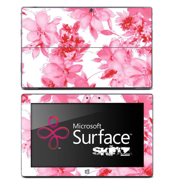 Light Pink Flowers Skin for the Microsoft Surface