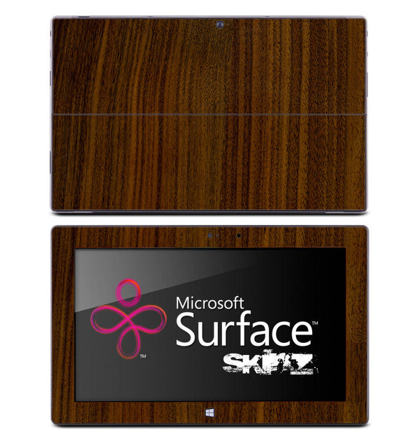 Dark Stained Wood Skin for the Microsoft Surface