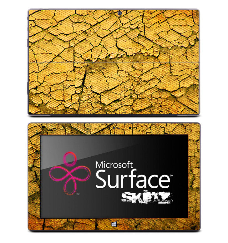Vintage Cracked Yellow Skin for the Microsoft Surface