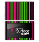 Vertical Neon Pink & Green Skin for the Microsoft Surface