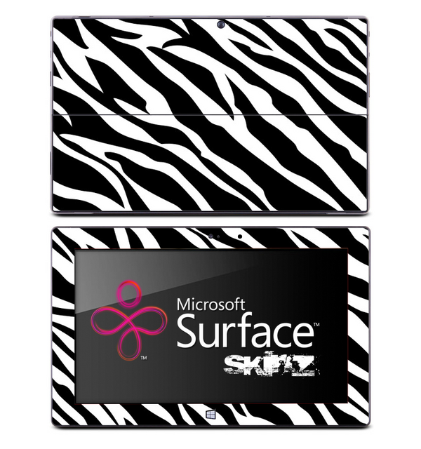 Artistic Zebra Skin for the Microsoft Surface