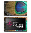 Vibrant Peacock Feather Skin for the Microsoft Surface