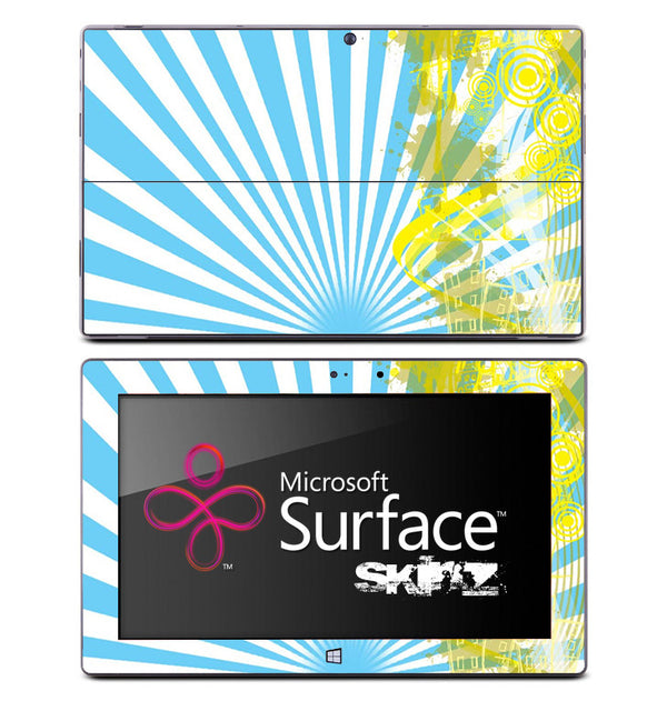 Blue Sunrise Yellow Splash Skin for the Microsoft Surface