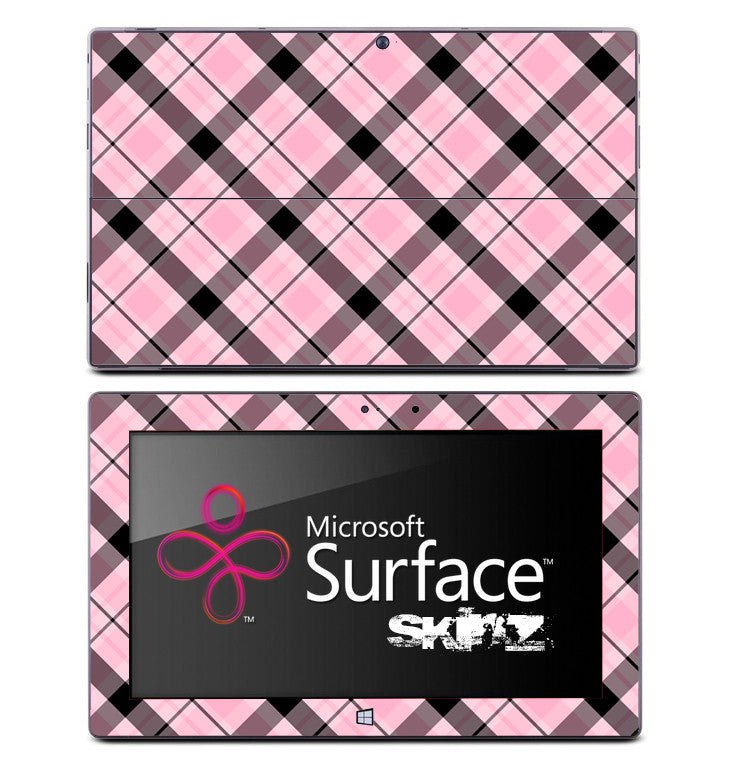 Pink & Black Plaid Skin for the Microsoft Surface