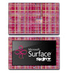 Pink Weaved Plaid Skin for the Microsoft Surface