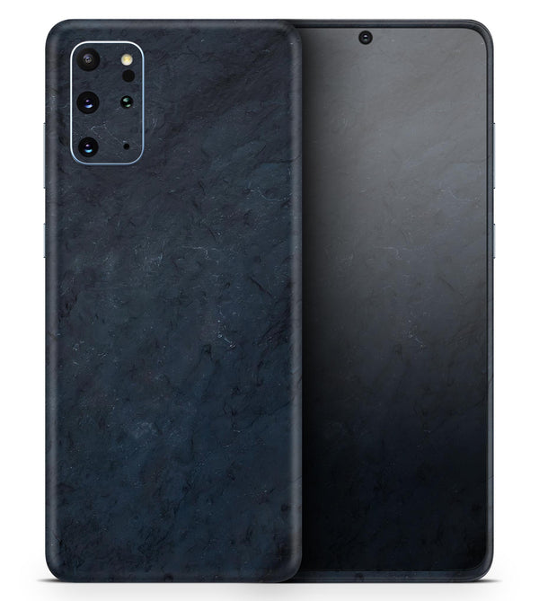 Midnight Navy Grunge Surface - Skin-Kit for the Samsung Galaxy S-Series S20, S20 Plus, S20 Ultra , S10 & others (All Galaxy Devices Available)