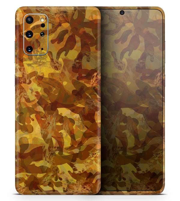 Military Jungle Camouflage V2 - Skin-Kit for the Samsung Galaxy S-Series S20, S20 Plus, S20 Ultra , S10 & others (All Galaxy Devices Available)