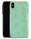 Mint and Gold Floral v11 - iPhone X Clipit Case