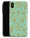 Mint and Gold Floral v12 - iPhone X Clipit Case
