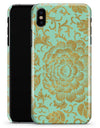 Mint and Gold Floral v2 - iPhone X Clipit Case