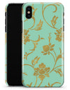Mint and Gold Floral v3 - iPhone X Clipit Case