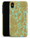 Mint and Gold Floral v4 - iPhone X Clipit Case