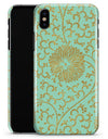 Mint and Gold Floral v5 - iPhone X Clipit Case