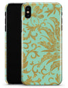 Mint and Gold Floral v6 - iPhone X Clipit Case
