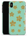 Mint and Gold Floral v7 - iPhone X Clipit Case