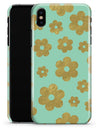 Mint and Gold Floral v8 - iPhone X Clipit Case