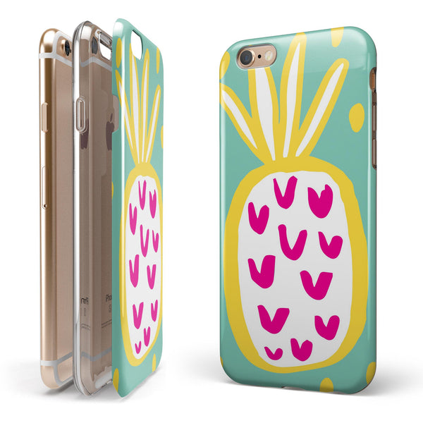 Mint v3 Pineapple iPhone 6/6s or 6/6s Plus 2-Piece Hybrid INK-Fuzed Case