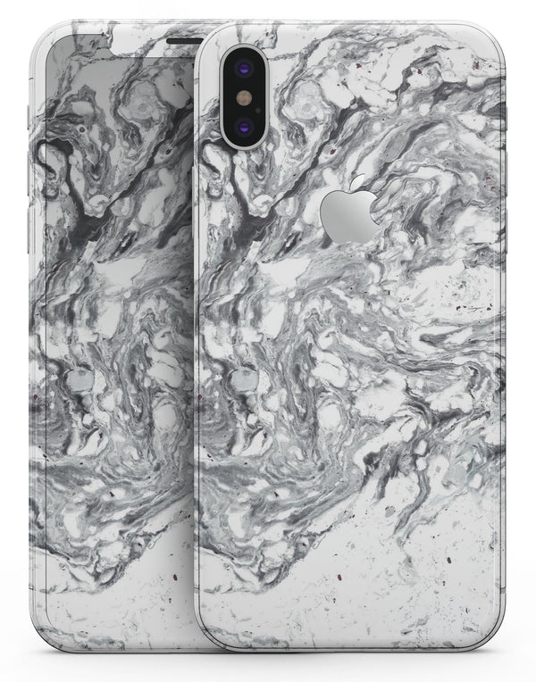 Mixtured Gray v5 Textured Marble - iPhone X Skin-Kit
