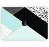 "Modern Geometric Mint V1 - Skin Decal Wrap Kit Compatible with the Apple MacBook Pro, Pro with Touch Bar or Air (11"", 12"", 13"", 15"" & 16"" - All Versions Available)"