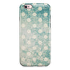 Mottled Aqua and White Polkadots-10 iPhone 6/6s or 6/6s Plus 2-Piece Hybrid INK-Fuzed Case