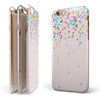 Multicolor Birthday Dots Over Pink iPhone 6/6s or 6/6s Plus 2-Piece Hybrid INK-Fuzed Case