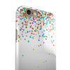 Multicolor Birthday Dots Over White iPhone 6/6s or 6/6s Plus 2-Piece Hybrid INK-Fuzed Case