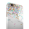 Multicolor Birthday Sprinkles Over White iPhone 6/6s or 6/6s Plus 2-Piece Hybrid INK-Fuzed Case