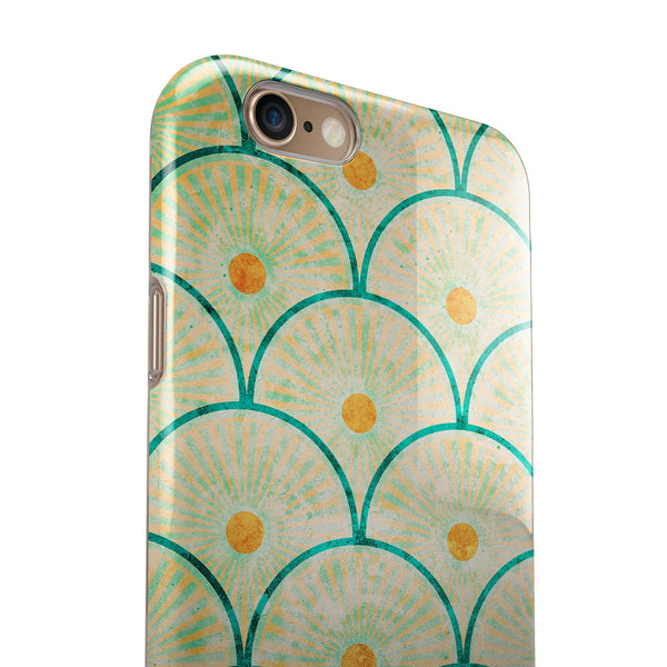 Multicolor Grunge Circles of Light  iPhone 6/6s or 6/6s Plus 2-Piece Hybrid INK-Fuzed Case