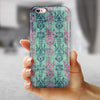 Multicolor Grunge Tribal Pattern iPhone 6/6s or 6/6s Plus 2-Piece Hybrid INK-Fuzed Case