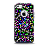 Multicolored Polka with Black Background Skin for the iPhone 5c OtterBox Commuter Case