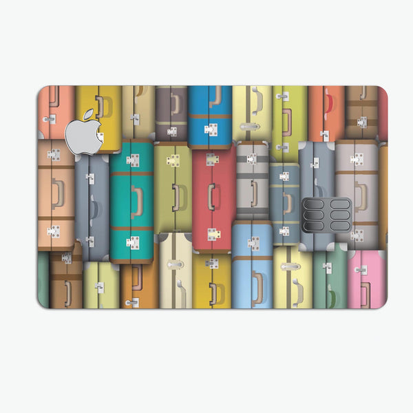 Multicolored Traveling Suitcases - Premium Protective Decal Skin-Kit for the Apple Credit Card