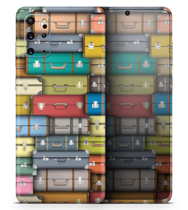 Multicolored Traveling Suitcases - Skin-Kit for the Samsung Galaxy S-Series S20, S20 Plus, S20 Ultra , S10 & others (All Galaxy Devices Available)