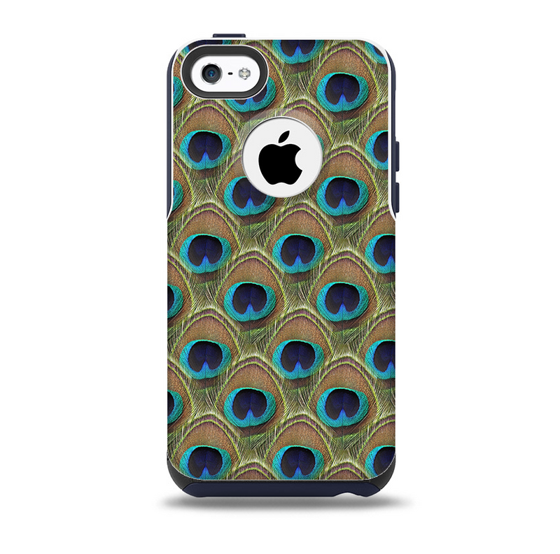Multiple Peacock Feather Pattern Skin for the iPhone 5c OtterBox Commuter Case